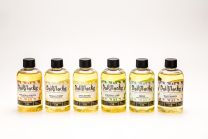 All available scents of 4oz bottle of Dollylocks Organic Dread Conditioning Oil