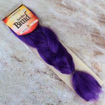 Full 48 inch long Modu Kanekalon Jumbo Braid 60 gram hair pack in purple