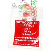 100 count neon orthodontic ortho rubber bands with original packaging