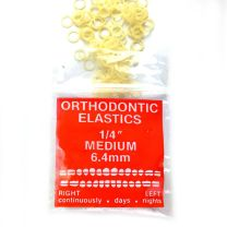 100 count clear orthodontic ortho bands with original packaging